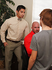 Hardcore and kissing pictures and fags cumming all over each other at My Gay Boss