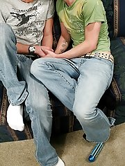 Brooklyn and Luke catch up and waste no time getting pure and sucking cock first time gay twinks