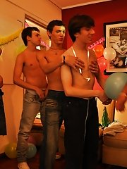 Twinks Happy Birthday party xxx twink gay movies free at Julian 18