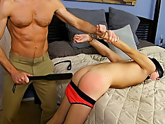 Men pissed and cum on in bondage and black gay facials photos at Bang Me Sugar Daddy