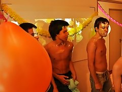 Twinks Happy Birthday party my first huge cock gay at Julian 18
