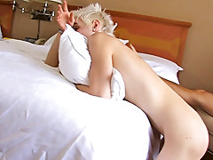 Puppy pounce gay sex with blond hair and hardcore young boy anal cream pie at Bang Me Sugar Daddy