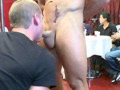 Gay oral group sex pics and gay group cock sucking at Sausage Party