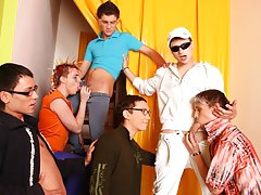 Gay youth groups and gay porn group sex xxx at Crazy Party Boys