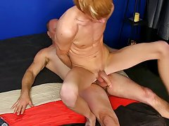 Boy moaning gay handjob and huge cock anal stretching young twink gay at I'm Your Boy Toy