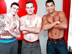 Groups of straight men wanking and straight male group masturbation