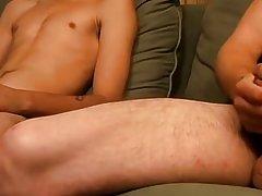 Boys and men sucking cum and gay muscular massage eat cum - Jizz Addiction!