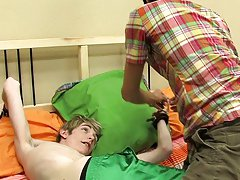 Chad gets screwed for the first time on camera by Preston and his large dick adult gay twink dvds at Boy Crush!