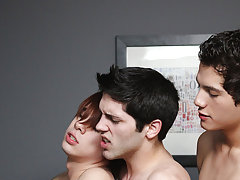 """"""" Aiden and Kyler are definitely on board and these three sexually excited twinks fuck each last ounce of virginity out of every other gay twinks"""