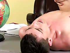 Twink cum on tongue and twink twin blowjob tumbler at Teach Twinks