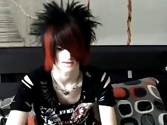Then strips down and shows off his gorgeous emo body