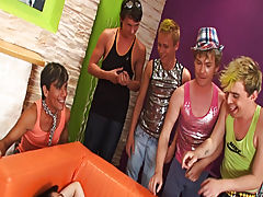 Group gay and lesbians fuck and group gay sex videos at Crazy Party Boys