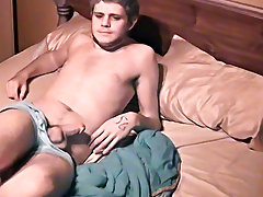 Male masturbation thrusting porn and young twink boy swallowing cum - at Boy Feast!