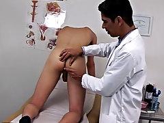 Testicle sucking fetish and male medical exam fetish tube