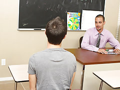Jacobey sucks Wade's cock to warm him up before his teacher takes control, blowing him and eating his ass gay boys twinks at Teach Twinks