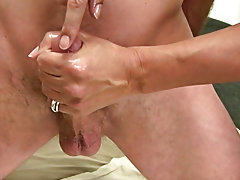 Men masturbating on their knees and man piss and masturbate