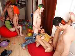 Masterbation group male las vegas nv hender nv and long gay group sex at Crazy Party Boys