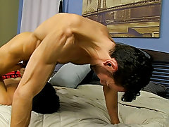 Breast sucking fucking in and big dick fuck male ass at Bang Me Sugar Daddy