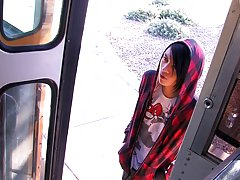 Roxy Red is the final one to ride the Boycrush Bus which means Andy Kay, the busdriver, acquires a turn fuck for the first time gay