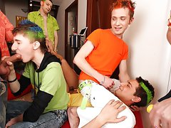Free movies of hot gay groups having sex and gay college groups at Crazy Party Boys