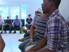 Gay group masterbation and group gay sex at Sausage Party