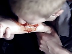Muscle twink masturbate and strip and huge cock makes twink cry - Gay Twinks Vampires Saga!