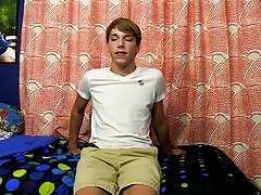 Teen boy solo ass in panty photo and nipple clamps on young twink boy at Boy Crush!