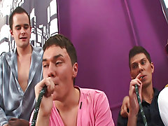 Male groups nude photo and male group shower at Crazy Party Boys