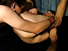 Horny mature gay men kissing and fucking and cute young gay boys masturbate together - at Tasty Twink!