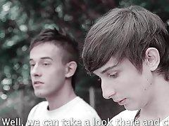 Gay asian guys fisting and twink masturbating circle jerk at Staxus