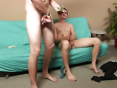 It didn't take long for Matt to get rock hard with Jimmy not far behind him gay straight blowjob