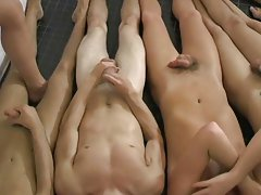 Eight young guys all get together after the game and go in the steam room gay twinks fuck in shower