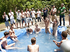 There is nothing like a nice summer time splash, especially when the pool is man made and ghetto rigged as fuck gay group sex galleries