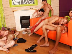 Gay mad group sex and gay group sex in public at Crazy Party Boys