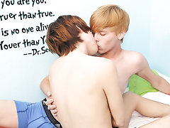 Dick in own anal and twinks rubbing their cocks together