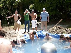 There is nothing like a nice summer time splash, especially when the pool is man made and ghetto rigged as fuck gay men private stripper