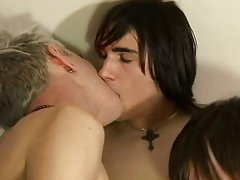 Gay twink with braces and twink jade sucks at EuroCreme