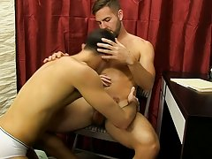 After getting his own cock sucked, Jake straddles Preston and sits on his cock anal sex male in male at My Gay Boss