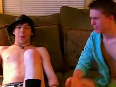 They kiss, stroke together, and Damien swallows William's uncut cock gay old guy on young twink - at Boy Feast!