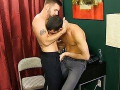 They kiss, disrobe and Jake worships Preston's cock with his lips and tongue gay anal sex bare back vid at My Gay Boss