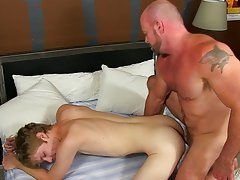 Gay uncut men peeing and punk twinks at Bang Me Sugar Daddy