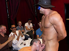 What's up fellas male group masturbating at Sausage Party