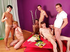Teen gays group and gay group blow job at Crazy Party Boys