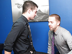 Preston Steel and Trevor Bridge are the only 2 gay guys at their office, which is the ideal excuse for an office hookup gay hardcore hairy leathe at M