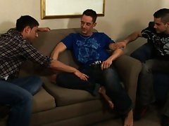 Hot gay hunk group sex and group fuck gay