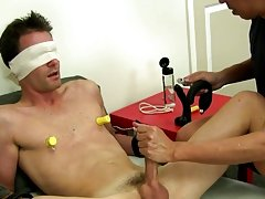 Mr. Hand rocks Cameron's world and he gushes a huge geyser of cock milk as he continues to moan with pleasure gay fetish bdsm