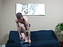 By this stage, Sam had worked up a decent sweat and was panting as he inched closer to shooting male masturbation ways