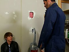 Kyler Moss sneaks into the janitor's room for a quick smoke, unfortuantely for his little ass, Alexsander Freitas catches him in the act; either