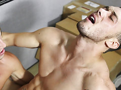 Hot gay anal sex and gay male anal lick at My Gay Boss