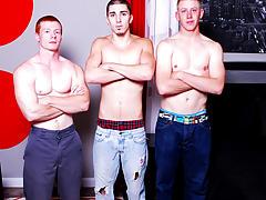 Twink emo panties and boys in group in locker room naked